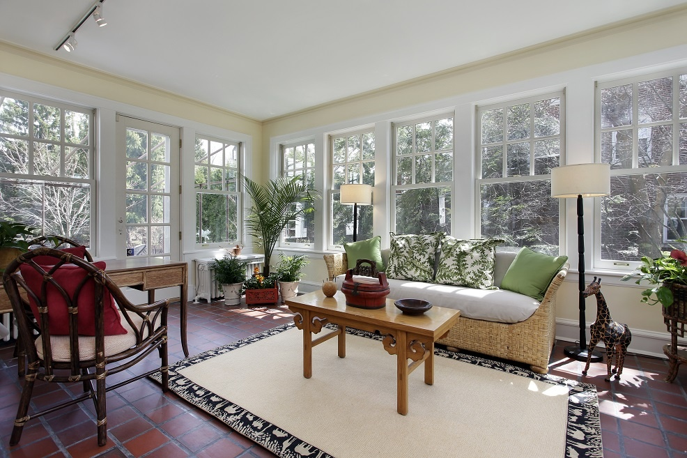 Sunroom home addition in Raleigh by Paradise Found Construction